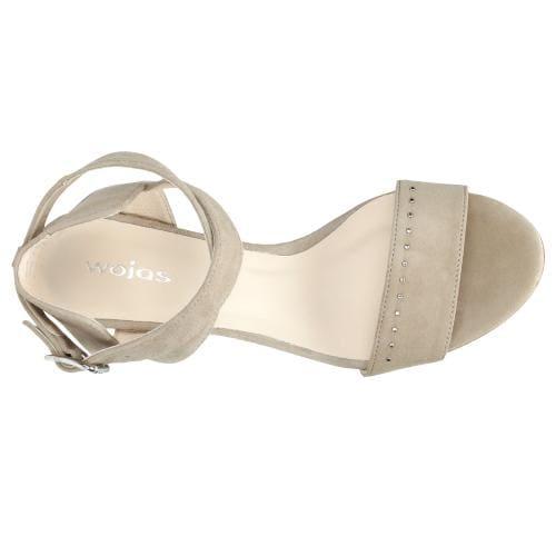 Beżowe sandały damskie 9742-64