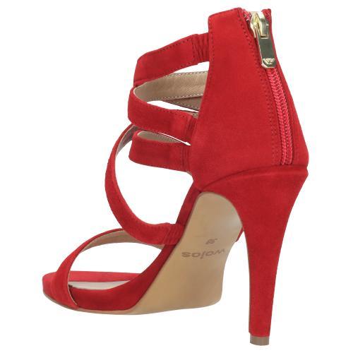 Czerwone sandały damskie 9741-65