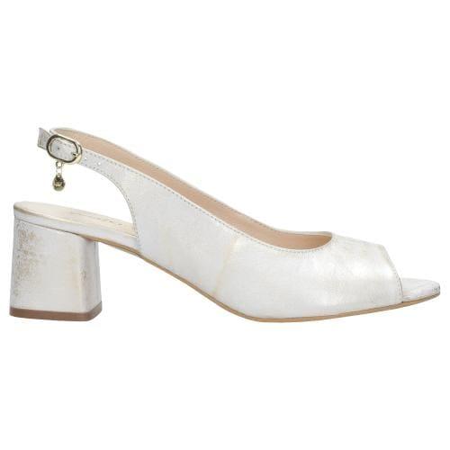 Złote sandały damskie 9748-58