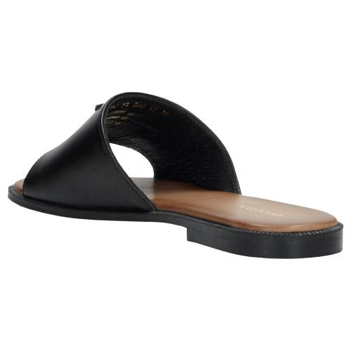 Czarne klapki damskie 74030-51