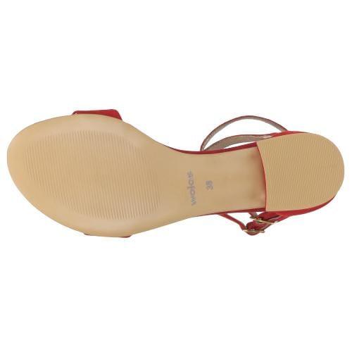 Czerwone sandały damskie 9724-65