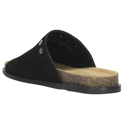 Czarne klapki damskie 74028-61
