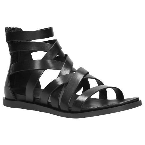 Czarne sandały damskie 9720-51