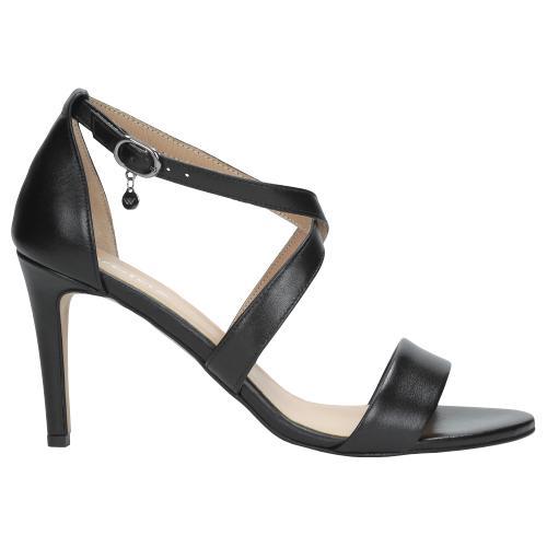 Czarne sandały damskie 9744-51