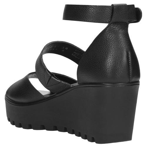 Czarne sandały damskie 9750-51