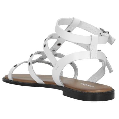 Białe sandały damskie 9725-59
