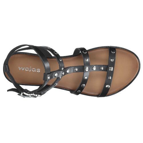Czarne sandały damskie 9725-51