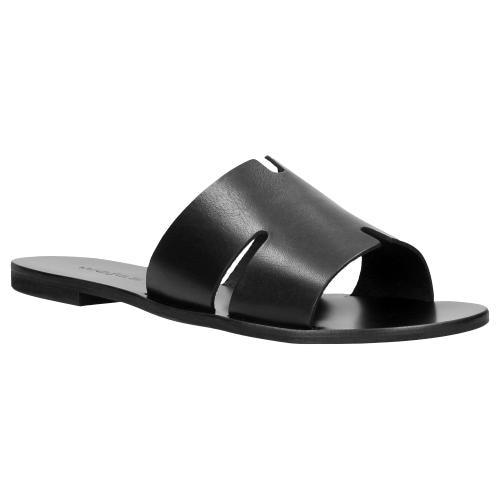 Czarne klapki damskie 74008-51