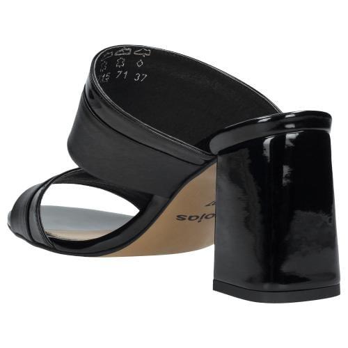 Czarne klapki damskie 9715-71
