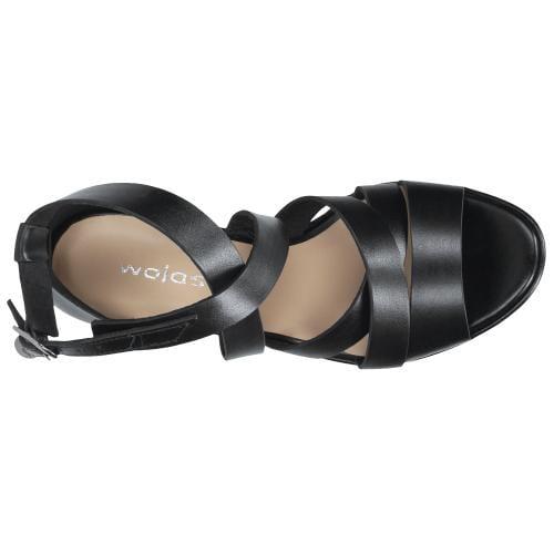 Czarne sandały damskie 9732-51