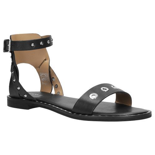 Czarne sandały damskie 9727-51