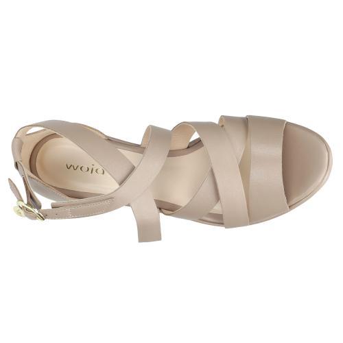 Beżowe sandały damskie 9732-54