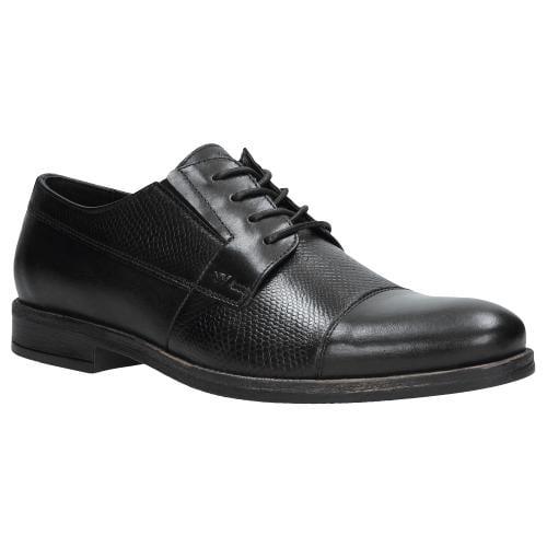 Czarne półbuty męskie 9070-51