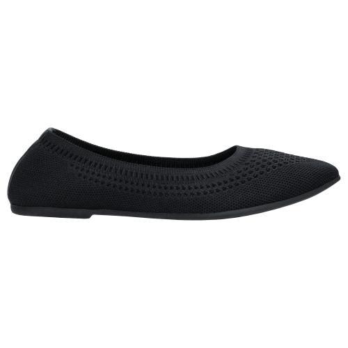 Czarny Czarne baleriny damskie 9381-81