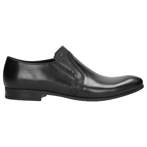 Czarne półbuty męskie 9069-51