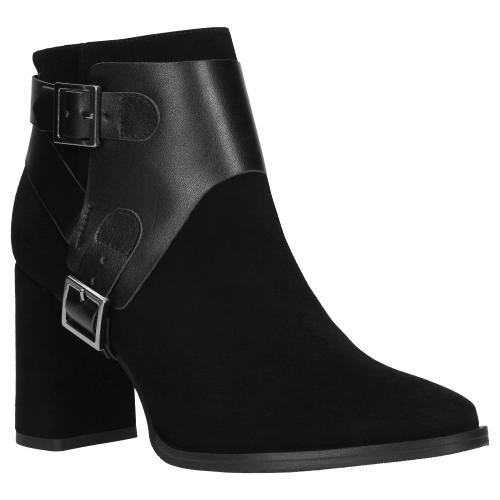 Czarne botki damskie 9545-71