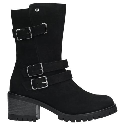 Czarne botki damskie 9588-21