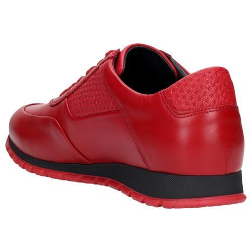 Czerwone półbuty męskie 9078-55