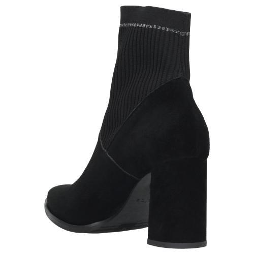 Czarne botki damskie 9541-81
