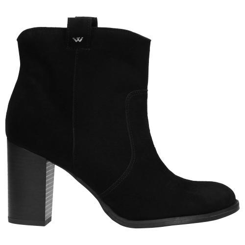 Czarne botki damskie 9542-61