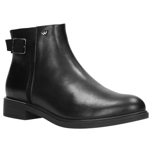 Czarne botki damskie 9593-71