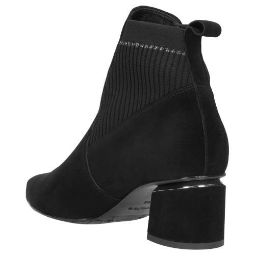 Czarne botki damskie 9579-81