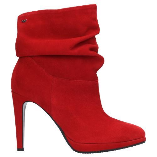 Czerwone botki damskie 9532-65