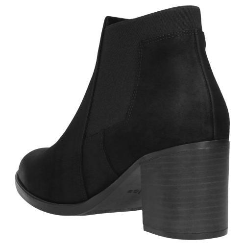 Czarne botki damskie 9557-81