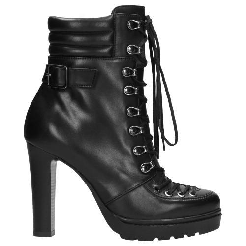 Czarne botki damskie 9631-51