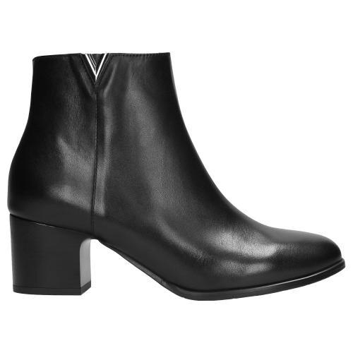 Czarne botki damskie 9561-51