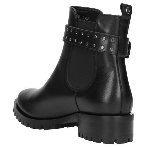 Czarne botki damskie 9585-51