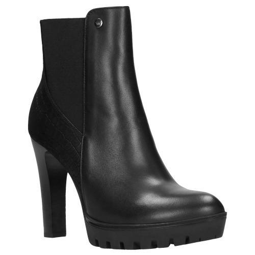 Czarne botki damskie 9589-81