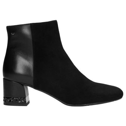 Czarne botki damskie 9563-71