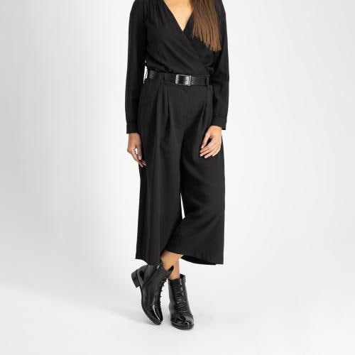 Czarne botki damskie 8623-81