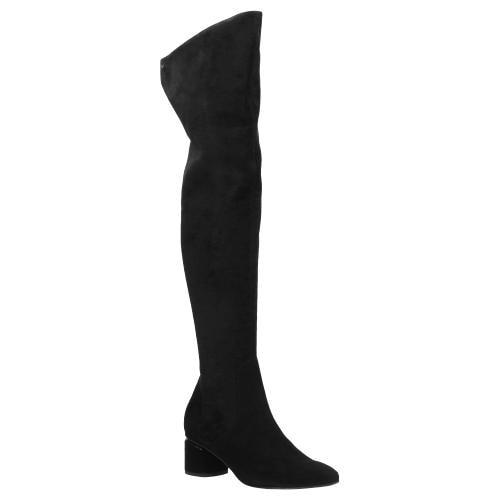 Czarne kozaki damskie 9679-81