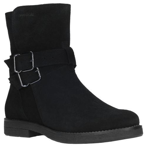 Czarne botki damskie 9587-61