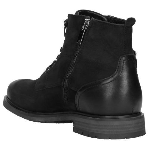 Czarne trzewiki męskie 9177-71