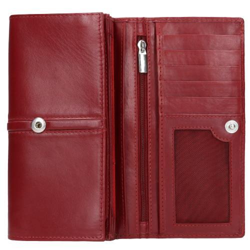 Czerwony portfel damski 9954-55