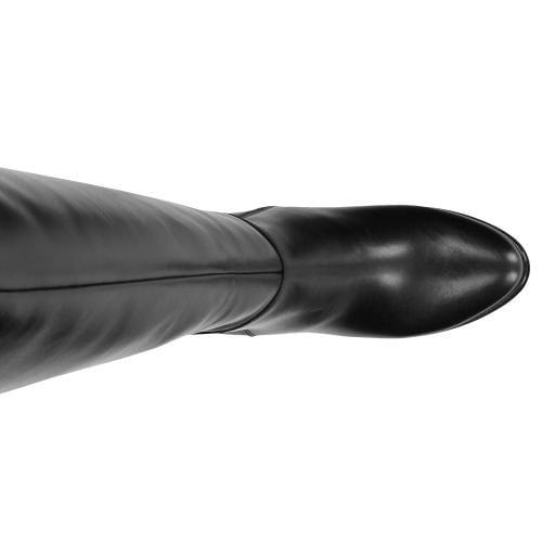 Czarne kozaki damskie 9678-51