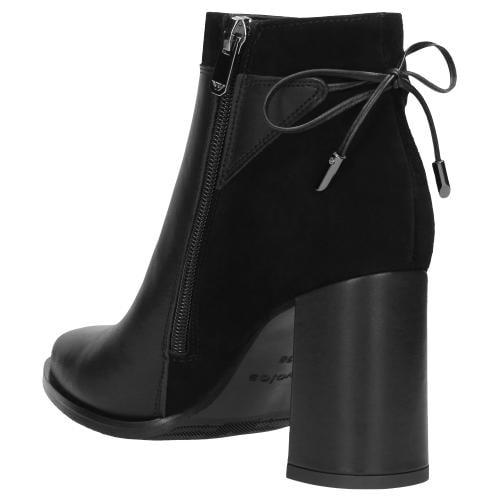 Czarne botki damskie 9591-71