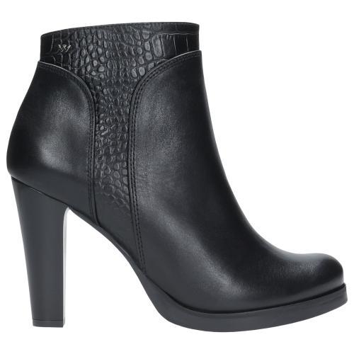 Czarne botki damskie 9582-51