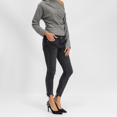 Czarne czółenka damskie 9280-61