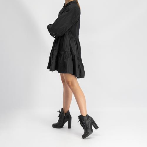 Czarne botki damskie 9533-51
