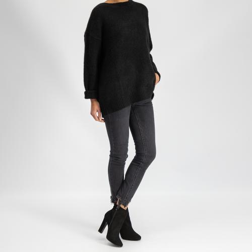 Czarne botki damskie 9535-61