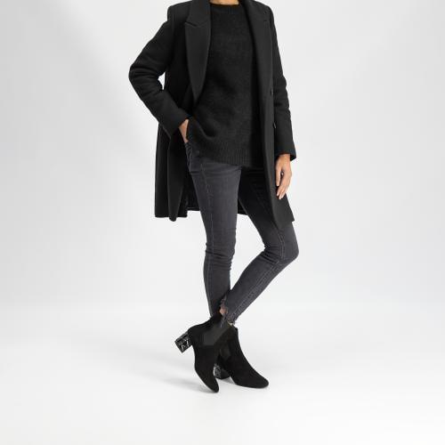 Czarne botki damskie 9558-61