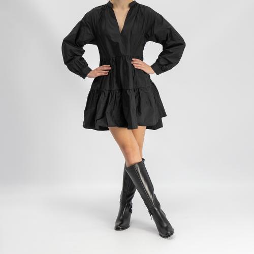 Czarne kozaki damskie 9671-51