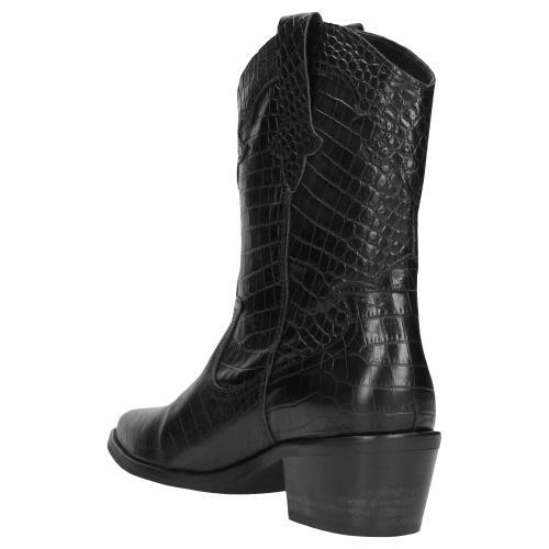 Czarne botki damskie 9511-51