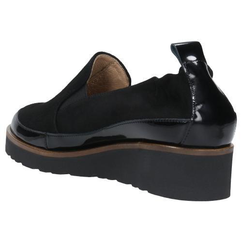 Czarne półbuty damskie 46008-71