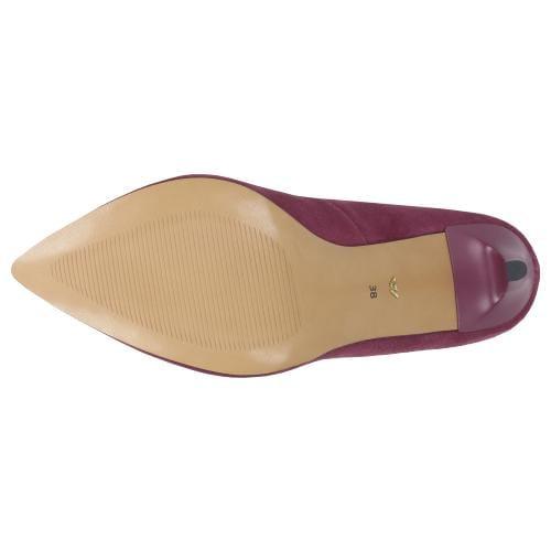 Amarantowe czółenka damskie 35008-65