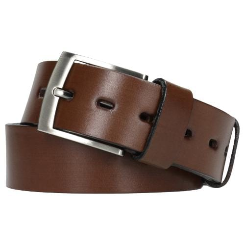Brązowy, stylowy pasek męski 93004-52